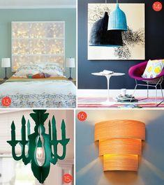 diy fabric lights | ... Awesome DIY Modern Lighting Projects! » Curbly | DIY Design Community