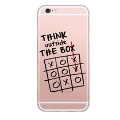 Think Outside of the Box Case Brand new in package with tags - made of clear soft silicone material - for iphone 6 - anti knock and perfect to display your iphone colors Accessories Phone Cases
