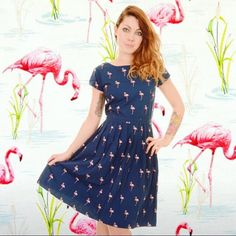 Storm Doris been threatening to blow your house all the way to Oz? Roll on summer! Our flamingo dress is wearable sunshine   and you don't have to wait until summer to enjoy it as it looks spot on with a nice cardi and cosy tights. Link in profile if you want to check out our collection of print dresses! #minimummouse #flamingo #flamingodress #flamingolovers