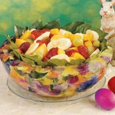 Bowl folks over at your Easter gathering with this frozen serving bowl - Floral Ice Bowl Recipe