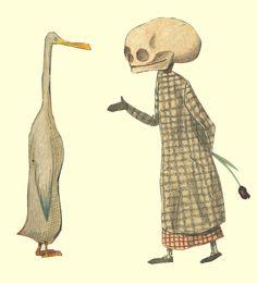 El pato y la muerte  - Wolf Erlbruch. Barba Fiore Editora 2011