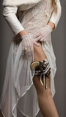 Steampunk thigh holster. Told my hubby I needed one of these for my outfit.