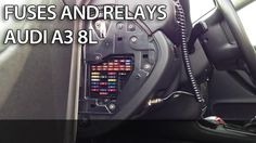 where are fuses and relays in audi a3 8l (cabin and engine fuse box location )