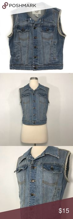 American Rag Denim Vest • Intentionally distressed denim vest. This is in great condition. American Rag Jackets & Coats Vests