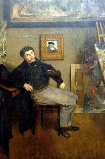 Edgar Degas - Portrait of James Tissot at New York Metropolitan Art Museum   por mbell1975