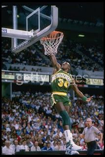 The X-Man....Xavier McDaniel flying in for the dunk. Wish he played with Shawn Kemp longer.