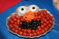 Elmo veggie tray