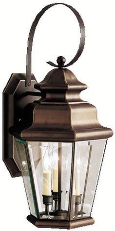 "0-027972>25""""h Savannah Estates 3-Light Outdoor Olde Bronze"