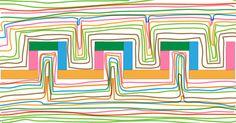 PDF Fiche de Graphisme MS Les créneaux: Collage des papiers de couleur et tracés aux feutres