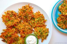 Quick and Crispy Vegetable Fritters | recipe via justataste.com