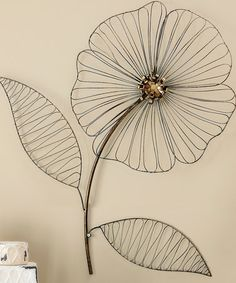 Intricate and full of beautiful rustic details, this iron flower is lightweight and easy to hang. Flower Wall, Art Decor, Home Decor, Master Bedroom, Crafting, Home And Garden, Home Appliances, Iron, Wall Art