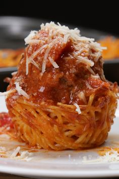 Spaghetti Nests..could be because of the size..and maybe Turkey meatballs...