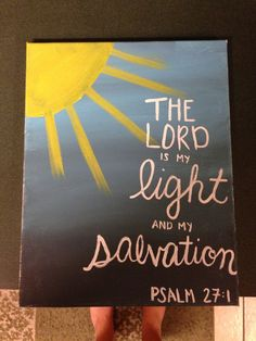 Psalm Bible Verse Painting on canvas by LovePurpleLiveGold on Etsy, $20.00