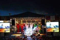 Kansas City Italian Festival- Stage lighting, sound, screen and video projection