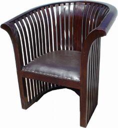 Zeitlos schön ist dieser Sessel aus Teakholz und Leder im Kolonialstil. Shabby, Chair, Furniture, Home Decor, Recyle, Armchair, Leather, Nice Asses, Recliner