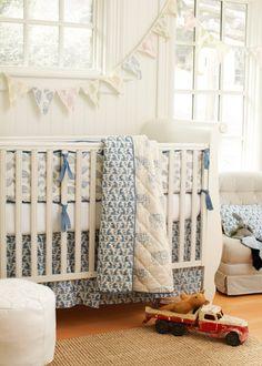 Rikshaw Design Taj Blue Crib Bedding Set #nursery #babybedding #nurserybedding @Layla Grayce