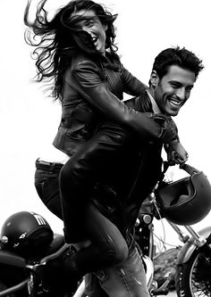 So much Fun. #couples, #riding a bike, #lovers, @Sarah Chintomby Despradel: Specially for you!!!♥
