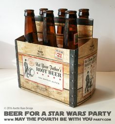 Star Wars Food: Rebel Beer /// Check out our blog for lots of Star Wars Party food recipes and downloadable labels! Great for a Birthday Party or a May the Fourth be with you Party. /// #starwars #starwarsparty #theforceawakens #rogueone #rebels #rebel #maythefourthbewithyou #starwarsbirthday #starwarsfood #beer #rebelIPA #spacerock #notyourfathersrootbeer #samueladams #chewbacca #wookiee #chewie #millenniumfalcon // maythefourthbewithyoupartyblog.com Star Wars Themed Food, Star Wars Party Food, Star Wars Food, Not Your Fathers Rootbeer, More Beer, Blog Names, Star Wars Birthday, Food Themes, Chewbacca