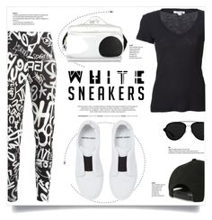 """White Sneakers"" by kiki-bi ❤ liked on Polyvore featuring Pierre Hardy, Moschino, James Perse, 3.1 Phillip Lim, blackandwhite, PierreHardy and whitesneakers"