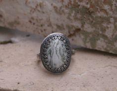 Natural Tree Agate Semi Precious Gemstone Sterling by MissieRabdau, $90.00