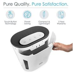 Pure Enrichment PureZone Air Purifier - True HEPA Filter & UV-C Sanitizer Cleans Air, Helps Alleviate Allergies, Removes Pet Hair, Smoke & More - for Home, Office & Bedroom Hepa Filter, Air Filter, Air Purifier Reviews, Cold Or Allergies, Pet Dander, Filters, Household, Pure Products, Whisper