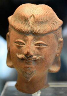 Khotan Figure of a Bearded Man (by Osama Shukir Muhammed Amin) -- The oasis state of Khotan with its capital at Yotkan, south of the Taklamakan desert, was a prosperous and powerful kingdom. Excavations have yielded É Taklamakan Desert, Eurasian Steppe, Cradle Of Civilization, Blue Green Eyes, Man Illustration, Sumerian, Latest Images, Central Asia, Ancient Art