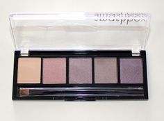 Smashbox Eyeshadow Palette Waterproof Powder Neutrals 5 Colors with Brush