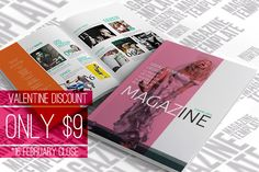 Only $9 (PROMO) Check out InDesign Magazine Template by scilaverna on Creative Market