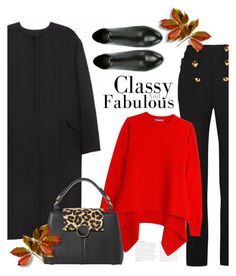 """Red Sweater"" by bliznec ❤ liked on Polyvore featuring Non, Roberto Cavalli, Alexander McQueen, Ash, Dune, Fall and fallsweaters"