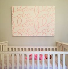 Original art made out of fabric stretched over a canvas...cheap chic trick!