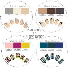 Nail Ideas by Color Trends Fall 2013