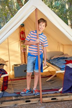 denim shorts keep you cool, calm & collected--so you can stay focused on setting up camp!