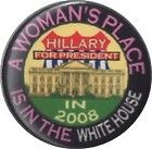 2 1/4 inch Woman's Place Is In White House Guardfrog Pinback Button Cello Badge - Badge, Button, Cello, Guardfrog, HOUSE, INCH, PINBACK, Place, WHITE, Woman's