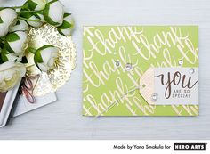 Thank You, you are so special card by Yana Smakula for Hero Arts