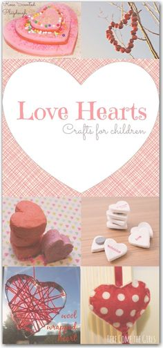love heart crafts for kids for Valentine's Day