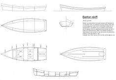 At last - construction drawings for the Barton skiff, previously known as the Low power skiff
