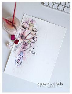 Page Art Journal - Tuto de Binka gratuit sur le blog Cartoscrap
