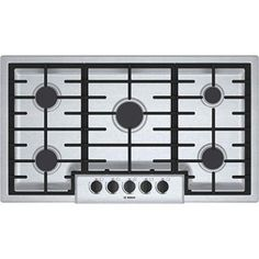 """5. Bosch NGM5655UC500 36"""" Gas Sealed Burner Cooktop Bosch Appliances, Kitchen Appliances, Cooking Appliances, Profile Design, Kitchen Renovations, Kitchen Remodel, House Renovations, Industrial, Cook Top Stove"""