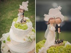 Cute wedding cake topper - Michelle and Ryan's Wedding