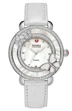 MICHELE 'Cloette Butterfly' Diamond Watch Case