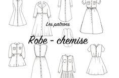Retrouvez sur le blog la revue des patrons pour coudre une robe-chemise