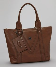 Take a look at this Brown V Tote & Coin Purse by V Couture by Kooba on #zulily today!
