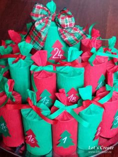 Toilet paper rolls in the role of the advent calendar!