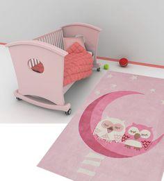 Happy Rugs w Limango - dywan do pokoju dziecięcego Śpiące sowy