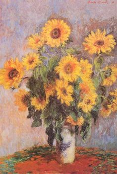 """A fantastic poster of the Claude Monet painting """"Bouquet of Sunflowers"""" A still life of flowers from his own garden. Check out the rest of our excellent selection of Claude Monet posters! Need Poster Mounts. Claude Monet, Renoir, Wall Art Prints, Poster Prints, Monet Paintings, Famous Flower Paintings, Sunflower Paintings, Impressionist Art, Wassily Kandinsky"""