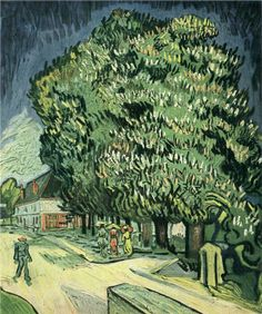 Chestnut Trees in Blossom, 1890			Vincent van Gogh