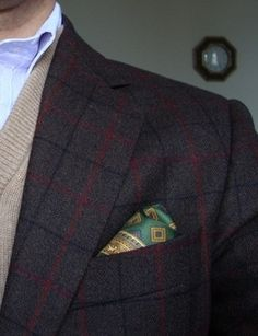 Plaid with a Pocket Square