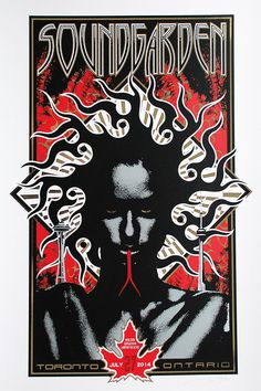 Soundgarden Poster by Adam Pobiak (Onsale Info) - OMG Posters! Omg Posters, Rock Y Metal, Rock Band Posters, Grunge, Rock N Roll, Metallica, Chris Cornell, Psy Art, Concert Posters