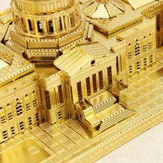 Cut Láser Piececool Congreso estadounidense DIY 3D Modelos Puzzle