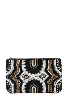 Beaded Faux Leather Clutch | Forever 21 - 1000162577